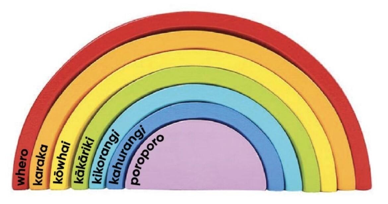 Rainbow Te Reo Wooden Blocks