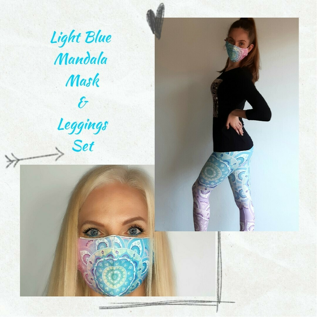 Light Blue Mandala Set