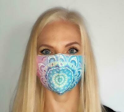 Light Blue Mandala Mask