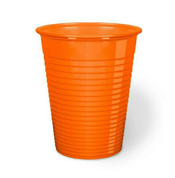 50 Bicchieri Monouso 200 cc Arancione
