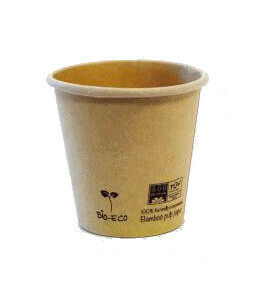 100 Bicchieri Caffè 80 ml Baboo Naturale