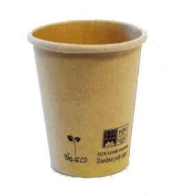 50 Bicchieri Bevande Calde 200/250 ml Bamboo