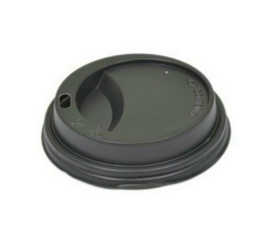 100 Coperchi Plastica Nero per Bicchiere 200/250 ml
