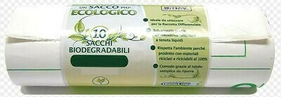 10 Sacchi Bio Degradabili 70 x 110