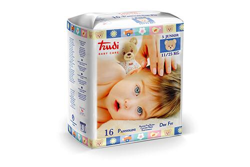 16 Pannolini Trudi Dry Fit Junior 11/25 Kg - Misura 5