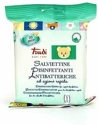 20 Salviette Disinfettanti e Antibatteriche Trudi