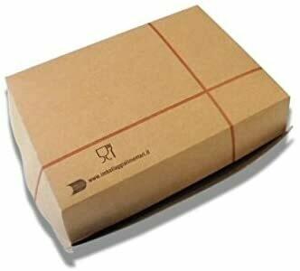 100 Box Panino Grande Rettangolare  Avana Cera Lacca 150X100x70h