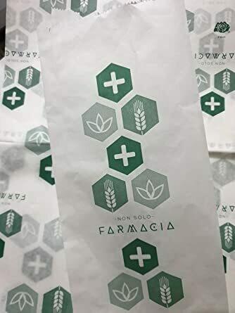 "10 kg Sacchetti Bianchi - Stampa ""Farmacia"" 10x24"