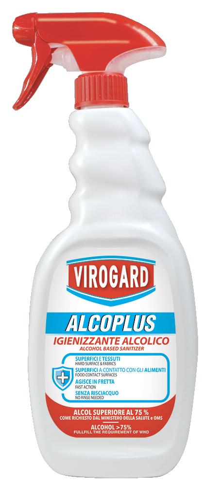 750 ml Virogard Alcoplus Sanificante base Alcool > 75%