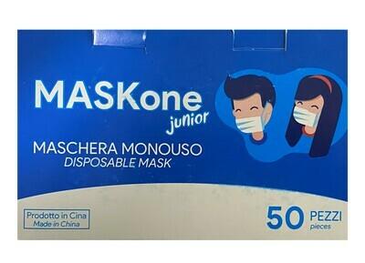50 Mascherine Chirurgiche Pediatriche Imbustate Singole 3 Veli
