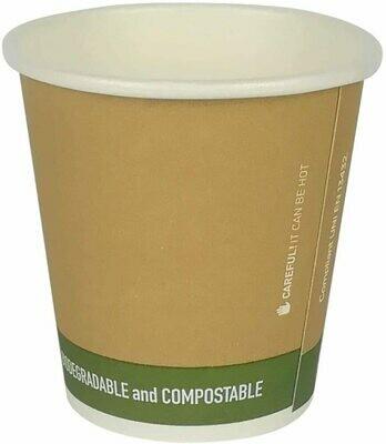 50 Bicchieri Caffè 80 ml Avana Biodegradabile e Compostabile