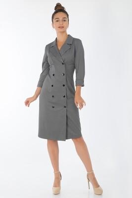 Платье 741 тр-ж черно-бел Клетка