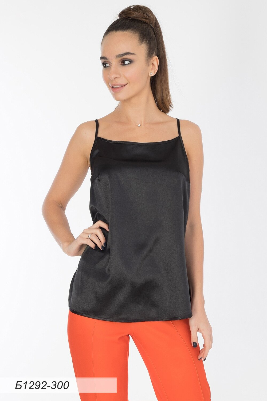 Блузка 1292 шелк-шифон черный