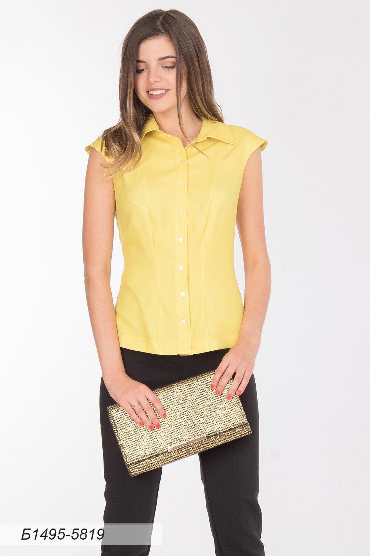 Блузка 1495 вискоза твил лимонная