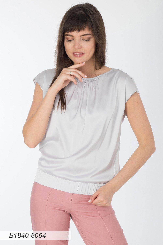 Блузка 1840 шелк-шифон Армани жемчужный