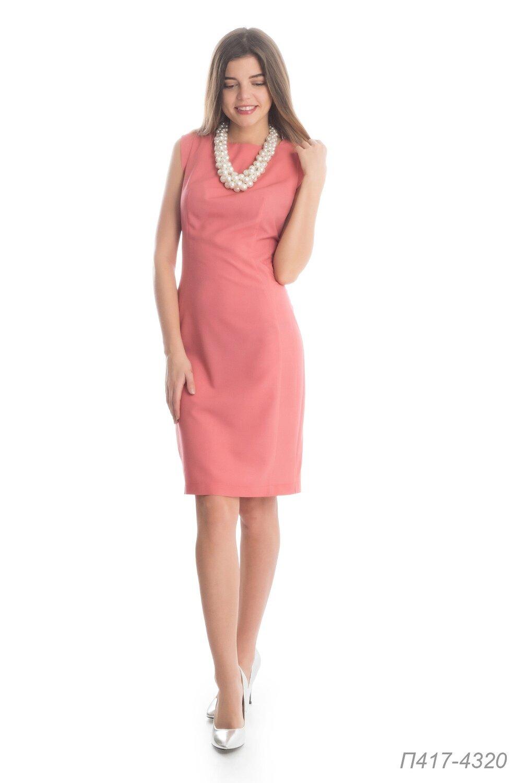 Платье 417 вискоза коралловая