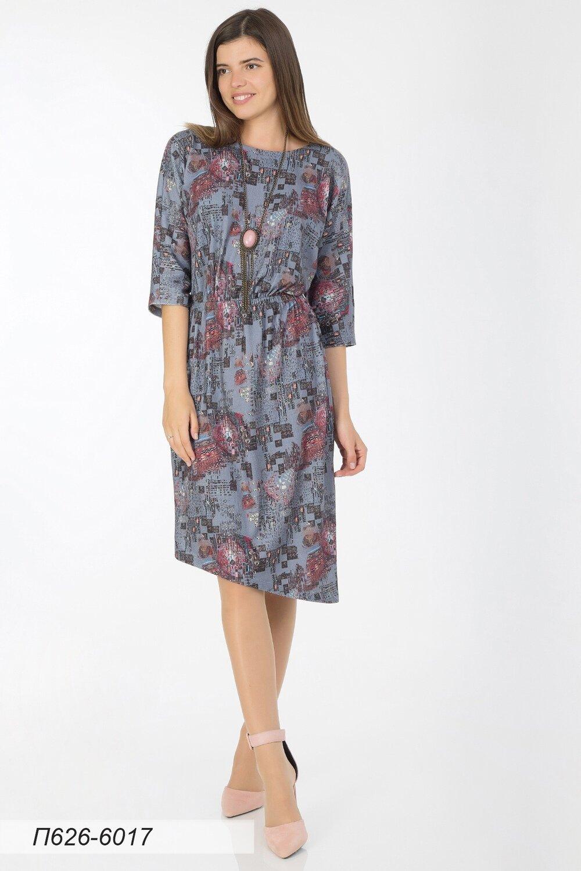 Платье 626 тр-ж Палермо серый Арт