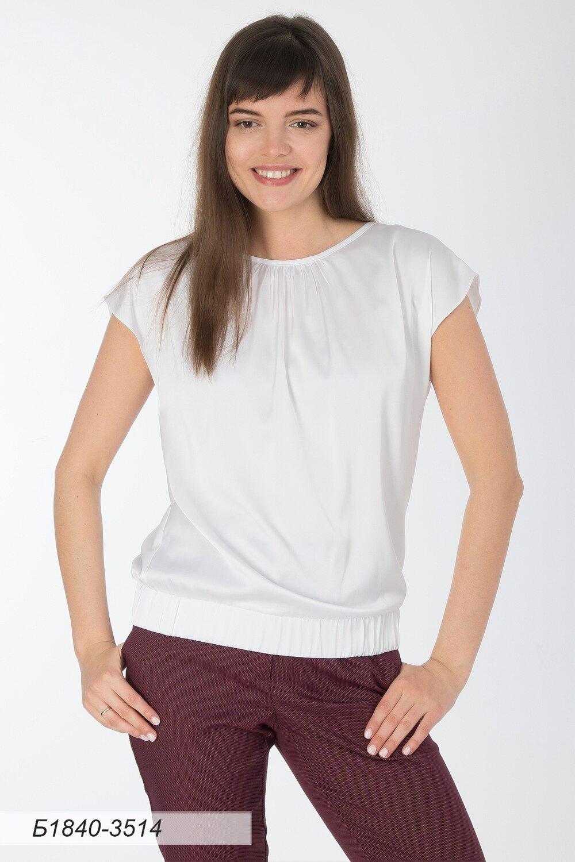 Блузка 1840 шелк-шифон Армани белый