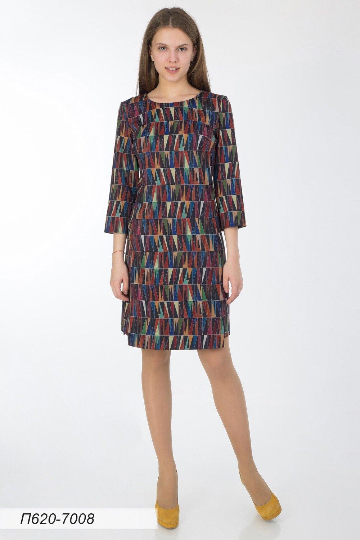 Платье 620 тр-ж цветной Краски