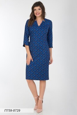 Платье 759 тр-ж сине-коричн Римма