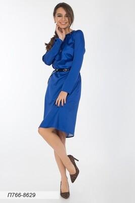 Платье 766 шелк-шифон плательн индиго