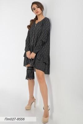 Платье-туника 027 креп-шифон черно-золот Скифы