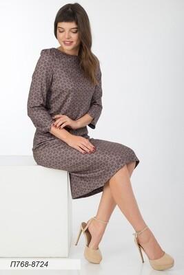 Платье 768 тр-ж Верона терракот-черн узор