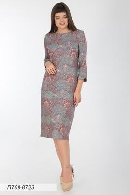 Платье 768 тр-ж Верона терракот-бирюз Садко