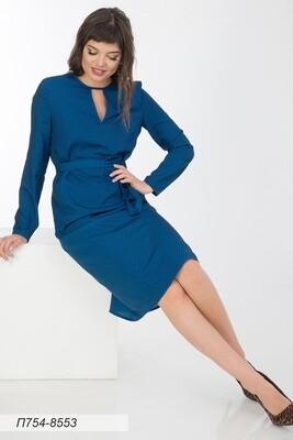 Платье 754 креп -шифон синий Stars