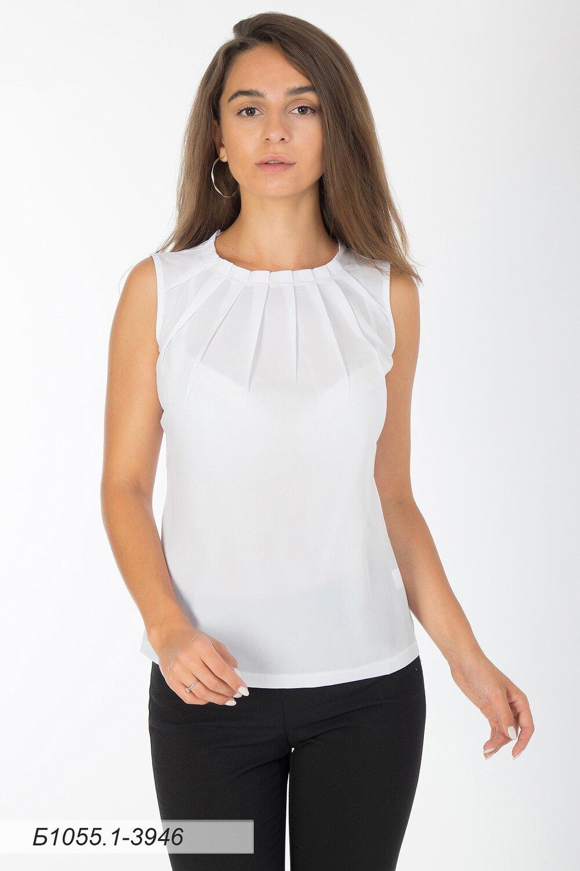 Блузка 1055-1 креп-шифон молочный