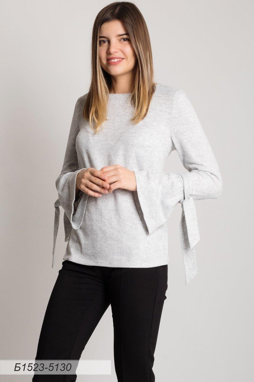 Блузка 1523 тр-ж Эльза светло-серый