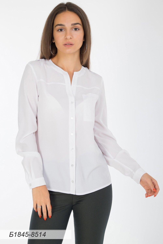 Блузка 1845 креп-шифон молочно-серый
