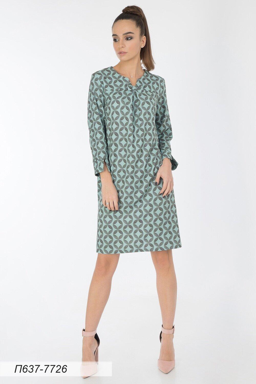 Платье 637 вискоза твил салат-оливк Василиса