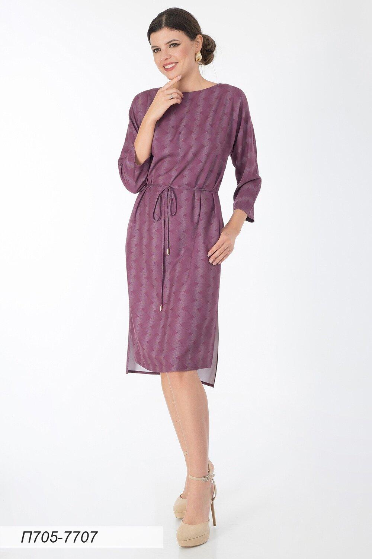 Платье 705 вискоза твил баклажановый Зигзаг