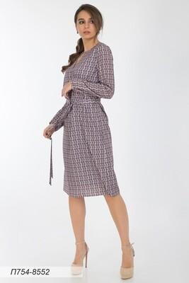 Платье 754 креп -шифон пудрово-беж Лина