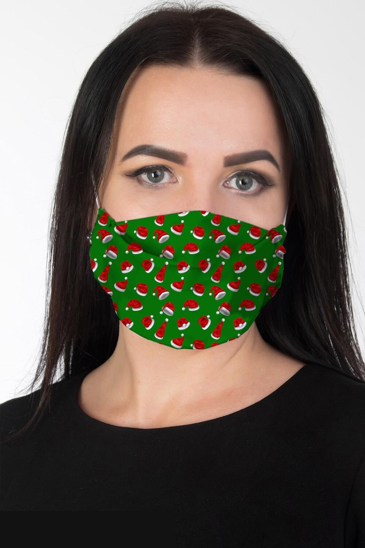 Маска 002 купон зелено-красный Колпак