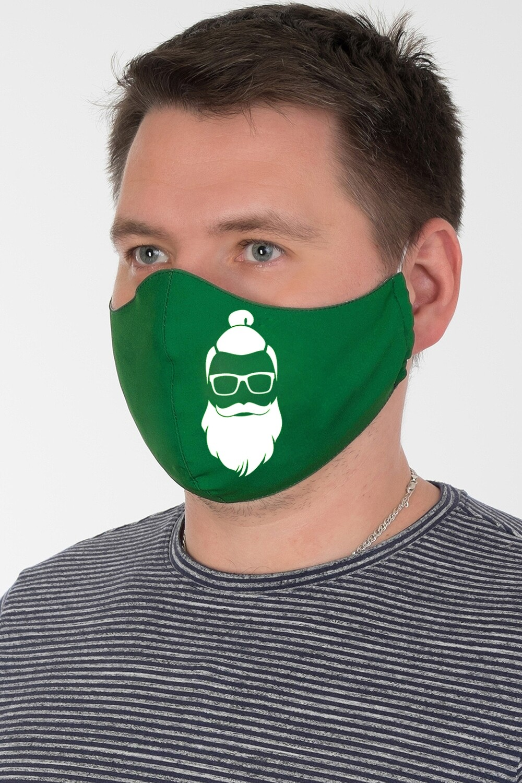 Маска 005 купон зелено-белый Санта