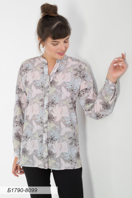 Блузка 1790 креп-шифон беж-пудров Есения