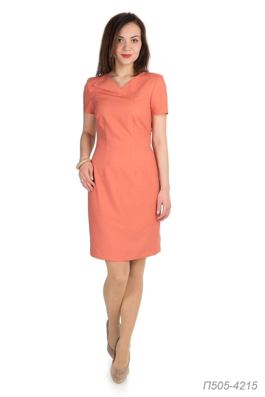 Платье 505 вискоза оранжевая