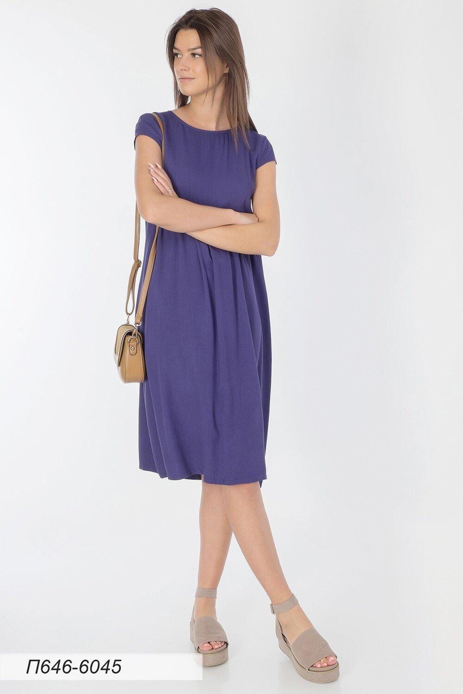 Платье 646 вискоза Жаккард синяя