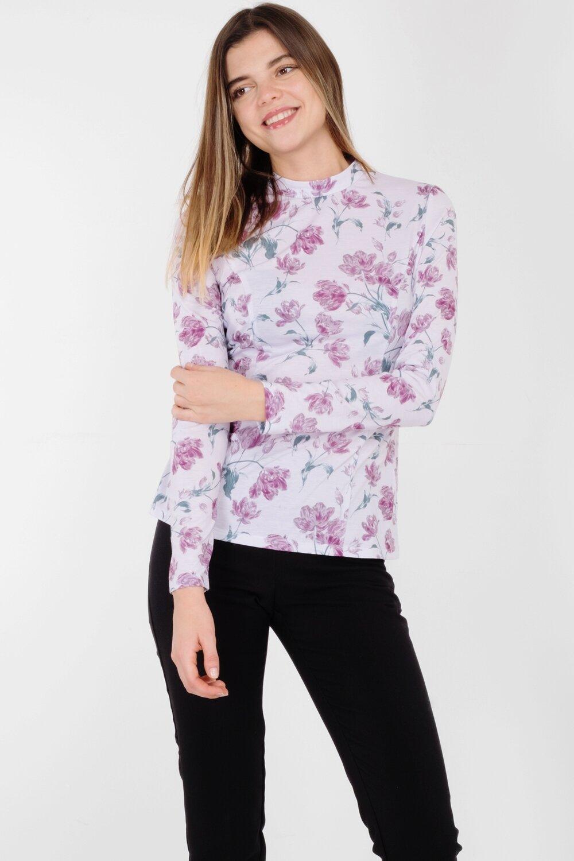 Блузка 1441 тр-ж бледно-лиловый Тюльпан
