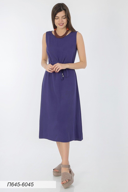 Платье 645 вискоза Жаккард синяя