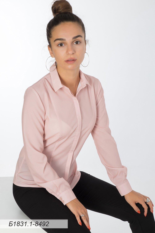 Блузка 1831-1 креп-шифон пудровый