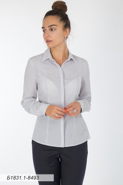 Блузка 1831-1 креп-шифон светло-серый