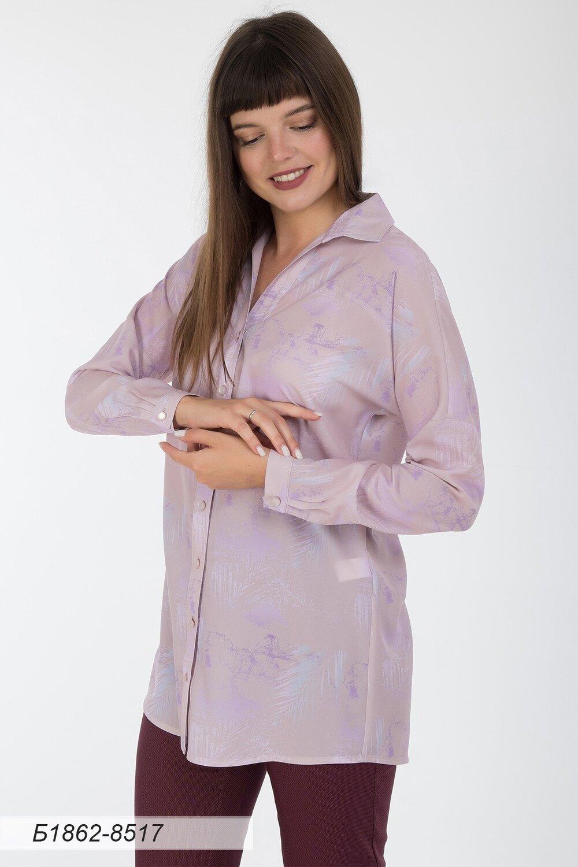 Блузка 1862 креп-шифон роз-лилов Отражение