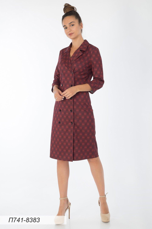Платье 741 тр-ж терракот-черн Камилла