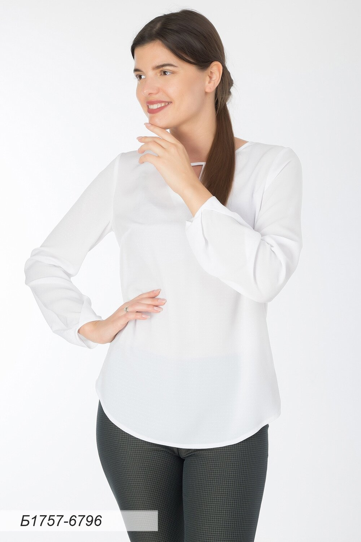 Блузка 1757 креп-шифон Модена белый
