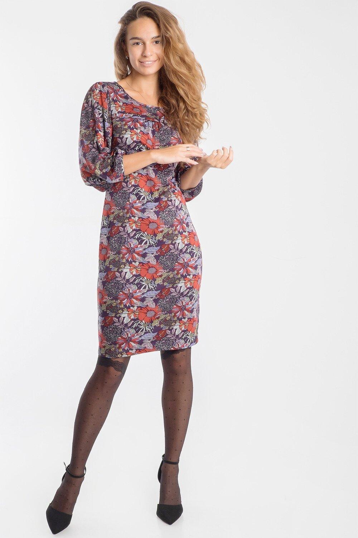 Платье 578 тр-ж фиолетово-лиловый Сухоцвет
