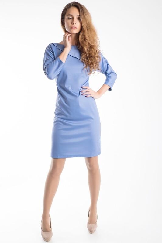 Платье 482 тр-ж Лакоста серо-сиреневый