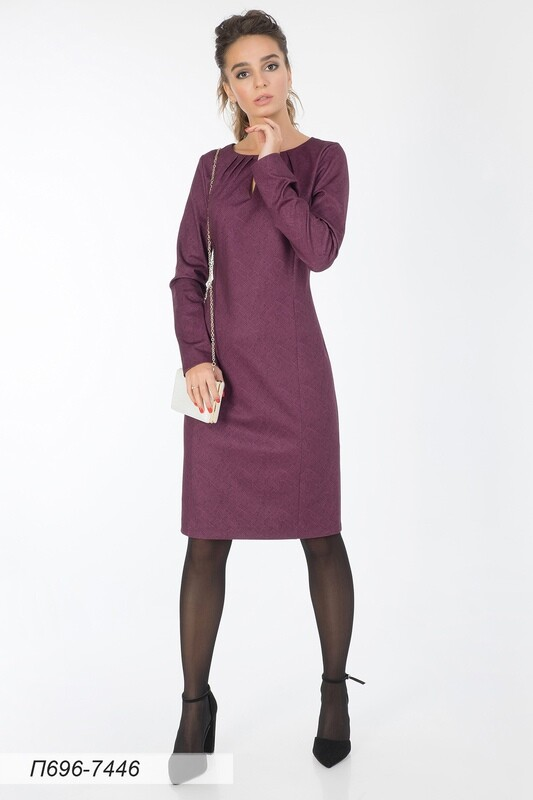 Платье 696 тр-ж сливовый Манчестер